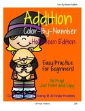 Addition Color By Number Halloween