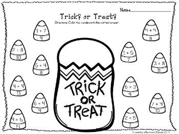 Halloween Addition Activities