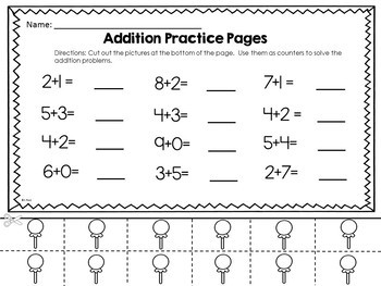 Halloween Addition  Activities and Worksheets