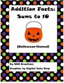 Halloween Addition Cards (Sums to 10)