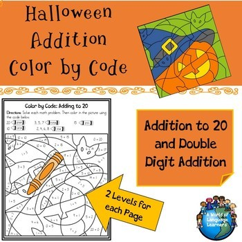 Halloween Addition Color by Code