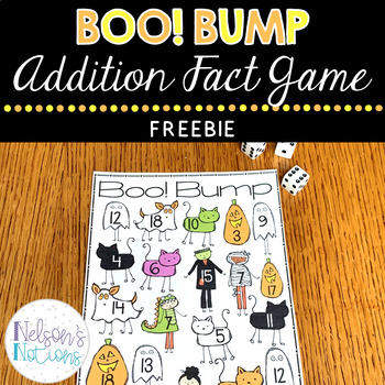 Halloween Addition Fact Freebie - Boo! Bump