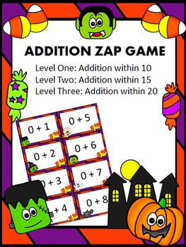 Halloween Addition Facts Zap Game