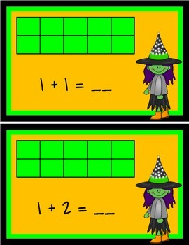 Addition Facts Center Cards - Halloween Theme