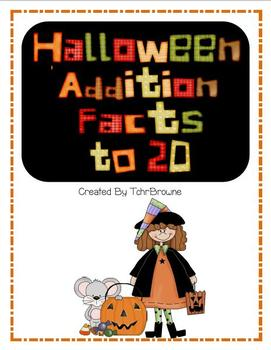 Halloween Addition Facts to 20