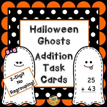 Halloween Addition - Math - 2 Digit No Regrouping - Task C