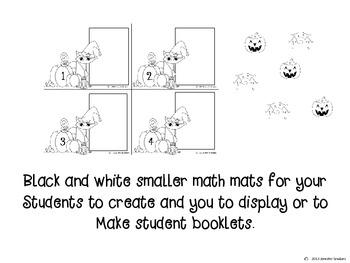 Halloween Addition Math Mats