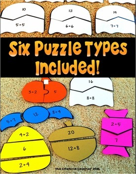 Halloween Addition Math Puzzles