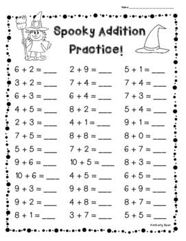 Halloween Addition Practice   Leveled Sheets  Digit And  Digit  Originaljpg