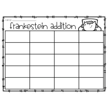 Halloween Addition Puzzles - October Addition Puzzles