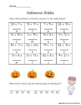Halloween Addition Riddle