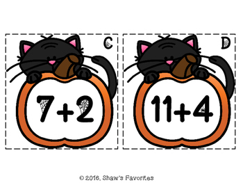 Halloween Addition Scavenger Hunt