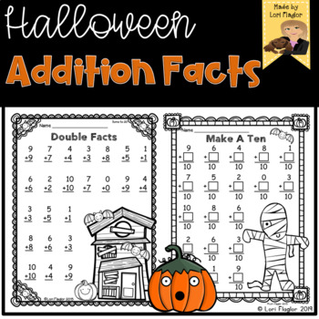 Halloween Addition Strategies Printables