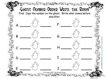 Halloween Number Order 0-10
