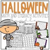 Halloween Math Activities: Addition & Subtraction Task Cards, Sorts, & Coloring
