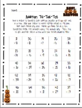 Halloween Addition & Subtraction Activity Bundle