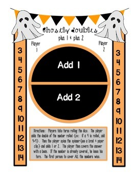 Halloween Addition & Subtraction Boogie {Games & Practice Pages}