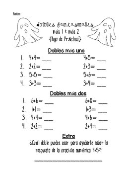 Halloween Addition & Subtraction Boogie in Spanish {Games & Practice Pages}