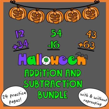 Halloween Addition & Subtraction Bundle