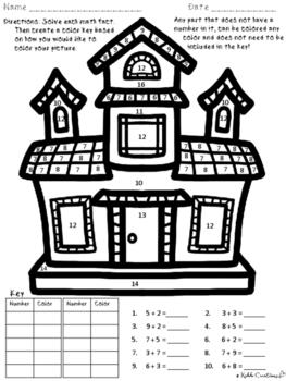Halloween Addition & Subtraction Color By Number With A Twist