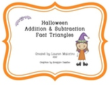 Halloween Addition & Subtraction Fact Family Triangles