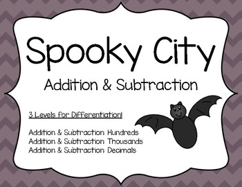 Halloween Addition & Subtraction: Spooky City Addition & Subtraction Activity