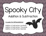Halloween Addition & Subtraction: Spooky City Addition & S