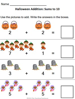 Halloween Addition & Subtraction Within 10