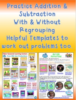 Halloween! Addition & Subtraction With & Without Regrouping