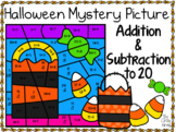 Halloween ~ Addition & Subtraction Within 20 ~Color by Code ~ Trick-or-Treat Bag