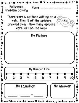 Halloween Addition & Subtraction Word Problems (Kindergarten/First)