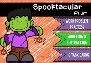 Halloween Addition & Subtraction Word Problems {year2tastic}