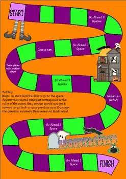 Halloween Addition Subtraction or Multiplication Game
