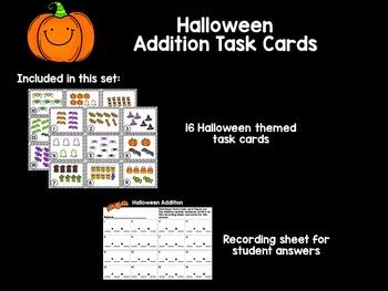 Halloween Addition Task Cards