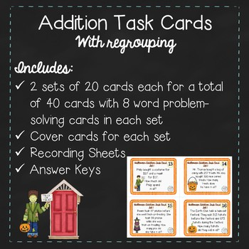 Halloween Addition Task Cards
