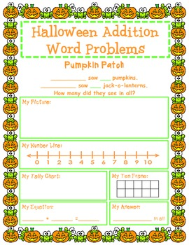 Halloween Addition Word Problems