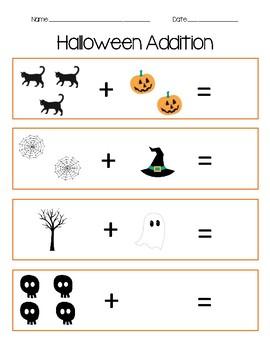 halloween addition worksheet by kinder cajun  teachers pay teachers