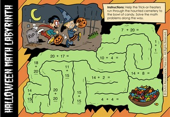Halloween Addition Worksheet Generator! Create Infinite Math Problems