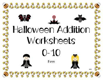 Halloween Addition Worksheets