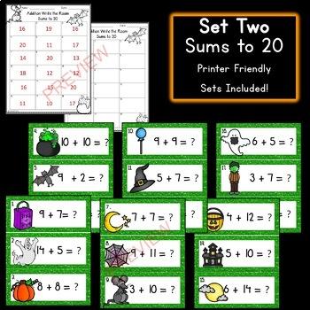 Halloween Math: Addition Write the Room!