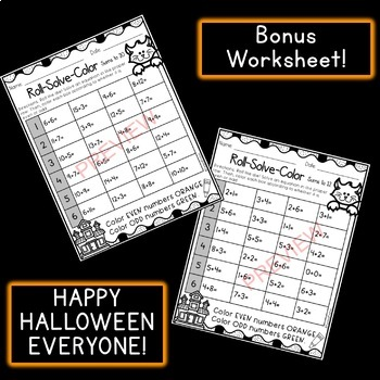 Halloween Math: Addition Write the Rooms [[Differentiated]]