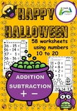 Halloween Addition and Subtraction 10 - 20