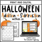Halloween Addition and Subtraction | Print and Digital