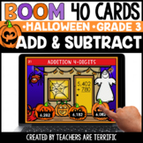 Halloween Addition and Subtraction Boom Cards Grade 3 | Di