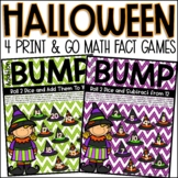 Addition and Subtraction BUMP and Math Games   Halloween A