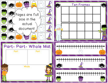 Halloween Addition and Subtraction Math Center