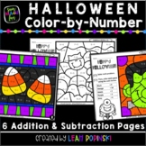 Halloween - Addition and Subtraction Worksheets - Color by Number