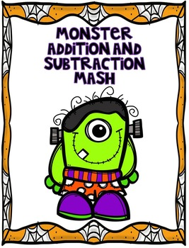 Halloween Addition and Subtraction Game