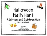 Halloween Addition and Subtraction Math Hunt