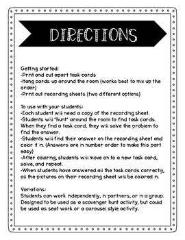 Halloween Addition and Subtraction Math Scavenger Hunt